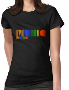 Music Rainbow Womens Fitted T-Shirt