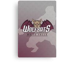 White Falls Wolfbats Canvas Print
