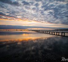 Griffiths Gully Jetty Sunrise 2 by Danielle  Miner
