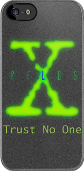 X FIles iPhone case - granular background by Brian Varcas