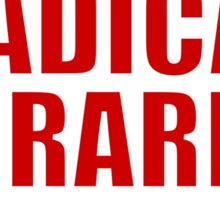 Radical Librarian (Red) Sticker