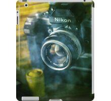 National geographic magazines & vintage Nikon F2 camera-Grunge iPad Case/Skin