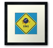 Bomb Crossing Framed Print