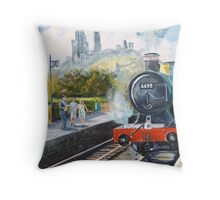 Corfe Station. Throw Pillow