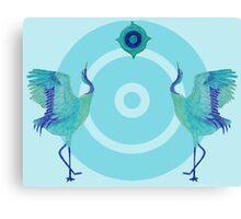 balanced cranes Canvas Print