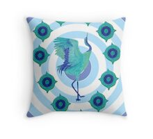 Harmony Crane Throw Pillow