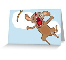 Catch a stick Greeting Card