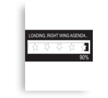 RAM Design: Loading Rightwing Agenda Plate #57 Canvas Print