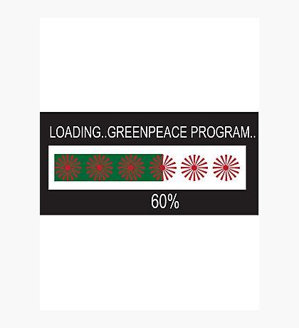 RAM Design: Loading Greenpeace Plate #57 Photographic Print