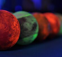 Pool Balls at a Black Light Party by Christian Eccleston