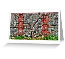 Espalier Apple and Daffodils, Please . . . Greeting Card