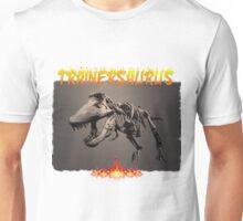 TRAINERSAURUS ON FIRE Unisex T-Shirt