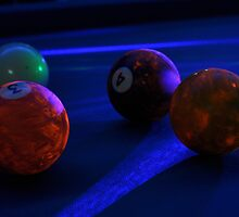 Pool Balls in Black Light 2 by Christian Eccleston