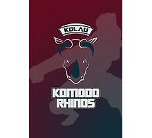 Kolau Komodo Rhinos Photographic Print