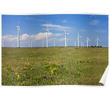 Wind Generators over Blue Sky  Poster