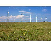 Wind Generators over Blue Sky  Photographic Print