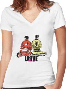 Drive x Akira Women's Fitted V-Neck T-Shirt