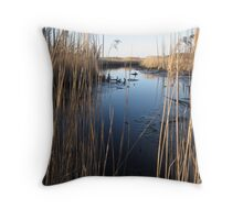 Wetlands At Low Tide Throw Pillow