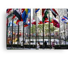 The Flags of Rockefeller Plaza Canvas Print