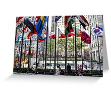 The Flags of Rockefeller Plaza Greeting Card