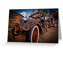Rusted Oldtimer Greeting Card
