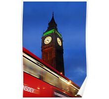 Bus Motion Effect at London Poster