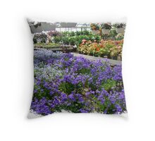 Inside Ott's Greenhouse - Schwenksville, Pennsylvania, USA Throw Pillow