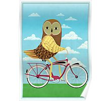 Owl Bicycle Poster