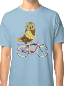 Owl Bicycle Classic T-Shirt