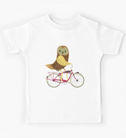 Owl Bicycle Kids Tee