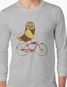 Owl Bicycle Long Sleeve T-Shirt