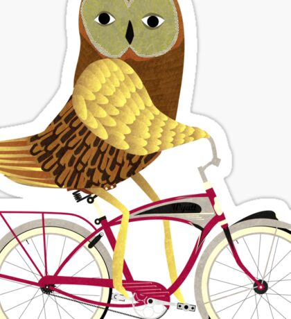 Owl Bicycle Sticker