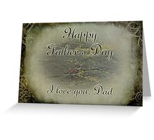 Happy Father's Day Greeting - Chipping Sparrow Greeting Card