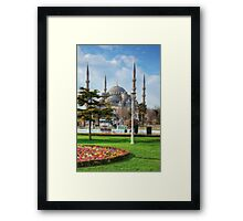 Spectacular HDR The Blue Mosque Framed Print