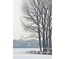 freezing and quiet winter at Old Summer Palace, Beijing Photographic Print