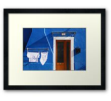 Cozy summer time in Burano, Venice Framed Print