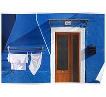 Cozy summer time in Burano, Venice Poster