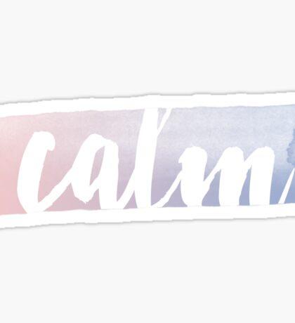 Calm - Watercolor Sticker