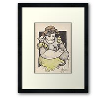 ELSA AND HER CATS Framed Print
