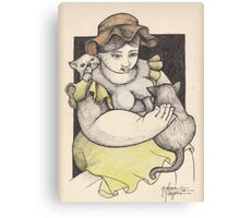ELSA AND HER CATS Canvas Print