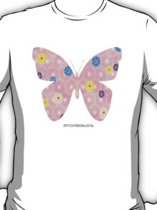 Pink floral butterfly T-Shirt