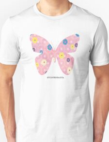 Pink floral butterfly Unisex T-Shirt