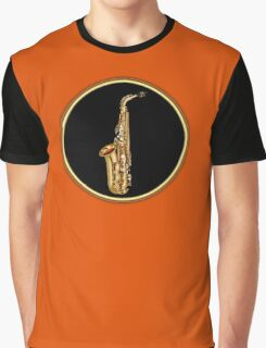 Golden Saxophone Graphic T-Shirt