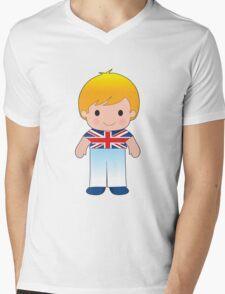 Poppy British Boy Mens V-Neck T-Shirt