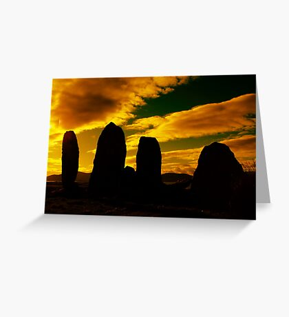 """Temple Of The Ancients"" Ancient Structures of Ireland Greeting Card"