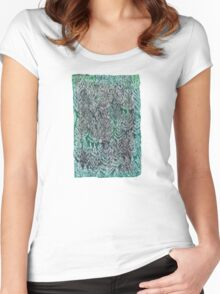Snow Pines (Dark Green) Women's Fitted Scoop T-Shirt