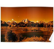 """Golden Landscape"" Grand Teton National Park  Poster"