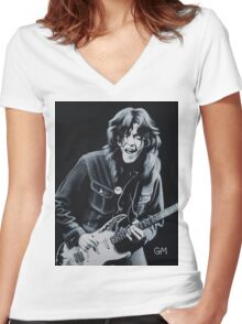 Rory plays the blues Women's Fitted V-Neck T-Shirt