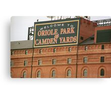 Baltimore Orioles Park at Camden Yards Canvas Print