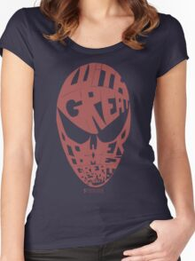 Spiderman: Ben Parker quote Women's Fitted Scoop T-Shirt